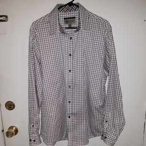 JhaneBarnes slim fit checkered dress shirt